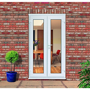 Wickes uPVC French Slave Door 4ft 1 of 3