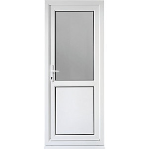 Wickes Tamar Pre-hung Upvc Door 2085 x 840mm Right Hung