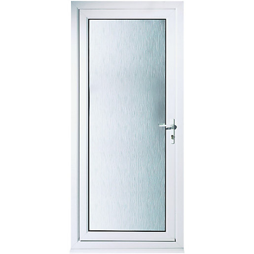 Wickes humber pre hung upvc door 2085 x 840mm left hand for Back door styles