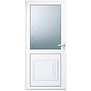Wickes Tyne Aluminium Door Glazed 1981x762mm Left Opening
