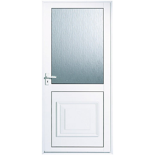 Wickes tyne aluminium door glazed 1981 x 762mm right hand for Back door styles
