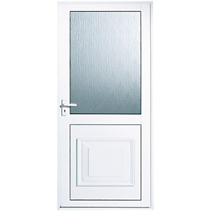 Wickes Tyne Aluminium Door Glazed 1981x762mm Right Opening