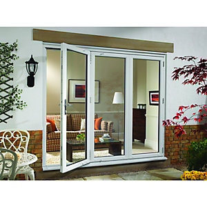 Wickes Upvc External Folding & Sliding Patio Door White 6ft Wide Right Opening
