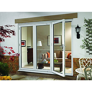 Wickes uPVC External Folding & Sliding Patio Door White 6ft Wide Left Opening