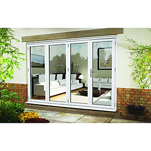 Wickes Upvc External Folding & Sliding Patio Door White 10ft Wide Left Opening