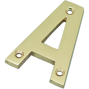 Wickes Door Letter A Brass