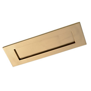 Wickes Letterbox Brass 100x300mm