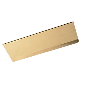 Wickes Letterbox Tidy Brass 98x300mm