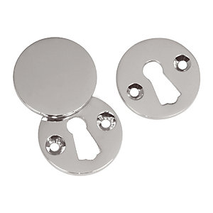 4Trade Satin Nickel Open & Covered Escutcheon 33mm Pack of 2
