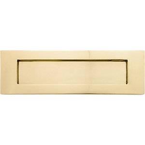 4Trade Brass Letter Plate 250mm x 75mm