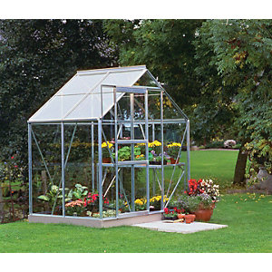 Halls Greenhouse Aluminium with Hort Glass 6x4
