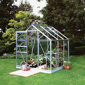 Eden Greenhouse 1.95x2.07x1.93m Aluminium with Hort Glass