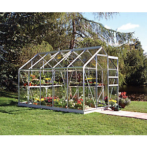 Halls Greenhouse Aluminium with Hort Glass 6x10
