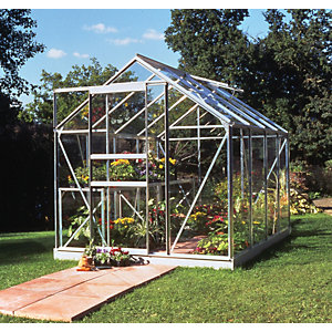 Halls Popular Greenhouse Aluminium 6x8