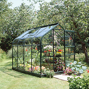 Halls Supreme Greenhouse Aluminium Green 6x8