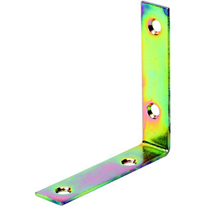 Wickes 80mm Galvanised Angle Bracket Pack 4
