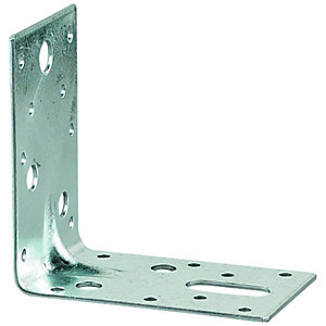 Wickes Galvanised Heavy Duty Angle Bracket 87x87x25mm