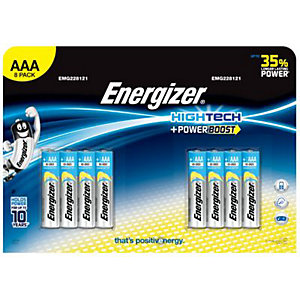 Energizer High Tech Powerboost Batteries AAA 8 Pack