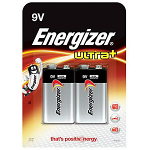 Energizer Ultra Plus 9v Batteries 2 Pack