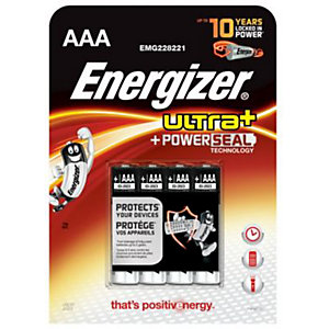 Energizer Ultra Plus Batteries AAA 4 Pack