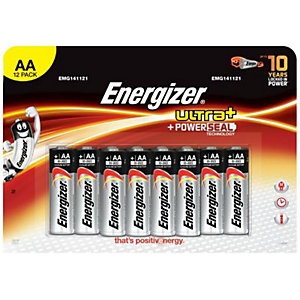 Energizer Ultra Plus Batteries AA 12 Pack