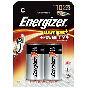 Energizer Ultra Plus Batteries C 2 Pack