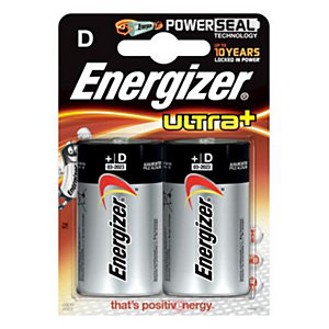 Energizer Ultra Plus Batteries D 2 Pack