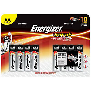Energizer Ultra Plus Batteries AA 8 Pack