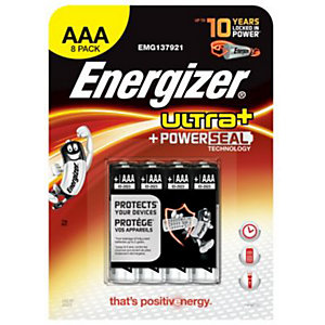 Energizer Ultra Plus Batteries AAA 8 Pack