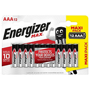 Energizer Max Alkaline Batteries AAa 12 Pack
