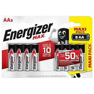 Energizer Max Alkaline Batteries AA 8 Pack