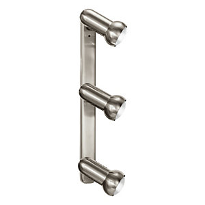 Eglo Manhatten Spotlights Satin Nickel Triple Bar