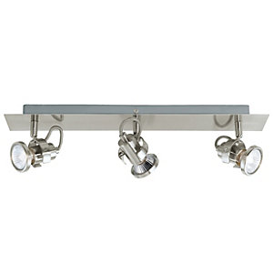 Eglo Tukon Spotlights Satin Nickel Triple Bar