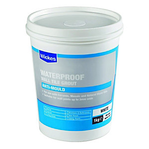 Wickes Waterproof Wall Tile Grout White 1kg