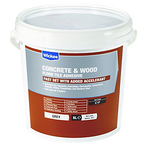 Wickes Concrete & Wood Floor Tile Adhesive 5L