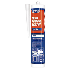 Wickes Multi Purpose Acrylic Sealant White 310ml