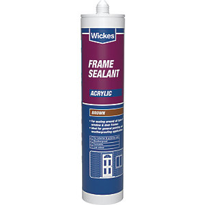 Wickes Frame Acrylic Sealant Brown 310ml