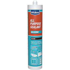 Wickes All Purpose Silicone Sealant Black 310ml