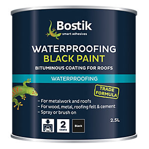 Bostik General Purpose Bituminous Black Paint 2.5L