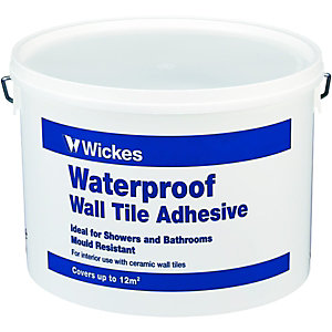 Wickes Waterproof Wall Tile Adhesive 15L
