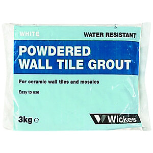 Wickes Powdered Wall Tile Grout White 3kg