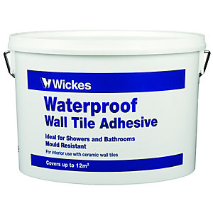 Wickes Waterproof Wall Tile Adhesive 10L