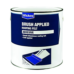 Wickes Brush Applied Roofing Felt Adhesive 2.5L
