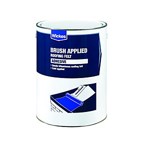 Wickes Brush Applied Roofing Felt Adhesive 5L