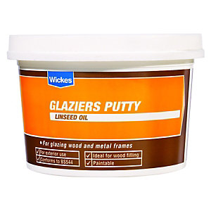 Wickes Glaziers Linseed Oil Putty Natural 1kg