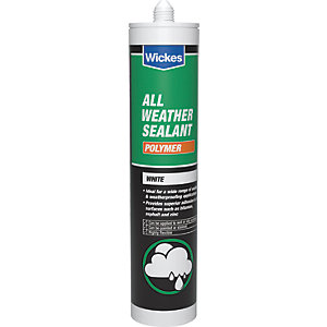 Wickes All Weather Polymer Sealant White 300ml