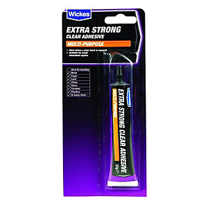 Wickes/Sealants & Adhesives/Adhesives/Wickes Extra Strong Clear Adhesive 32g