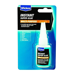 Wickes Multi-purpose Instant Super Glue 20g