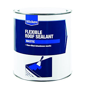Wickes Flexible Roof Mastic Sealant 1L