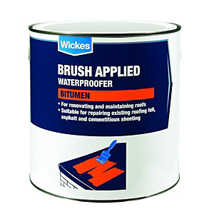 Wickes Brush Applied Bitumen Roof Waterproofer 2.5L